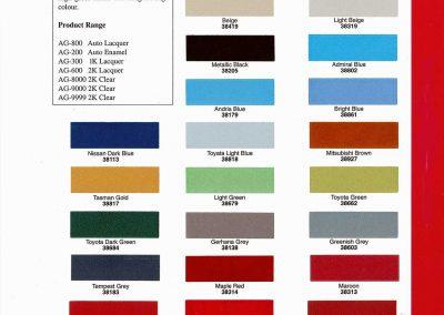 Color Card - APIGLOSS 02